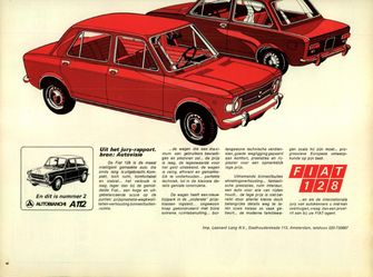 Advertentie Fiat 128 Autovisie