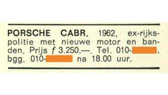 PORSCHE ADV 1970 PRIJSLIJST