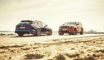Audi RS6 en Jeep Grand Cherokee SRT