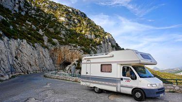 Camper in de bergen