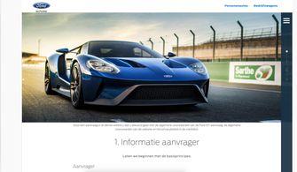 Ford GT aanvraag