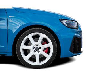 Audi A1 met witte velgen