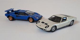 Lamborghini Miura & Countach, Kyosho, 1:64