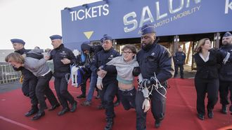 milieu-activisten autosalon Brussel