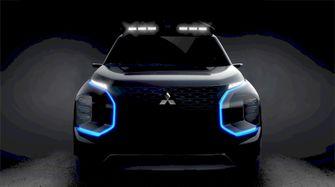 Mitsubishi Engelberg Tourer teaser 2019 verlicht