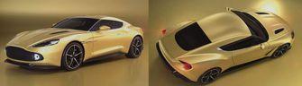 Aston Martin Vanquish Zagato Geelgoud