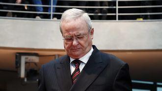 Voormalig Volkswagen topman Martin Winterkorn in rechtszaal (2017)