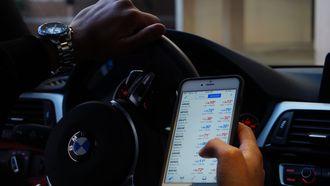 Telefoon gebruik in auto