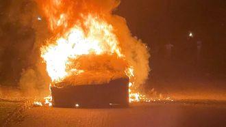 Tesla Model S Plaid uitgebrand 16x9
