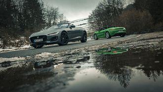 Jaguar F-Type Convertible Porsche 718 Boxster GTS 4.0