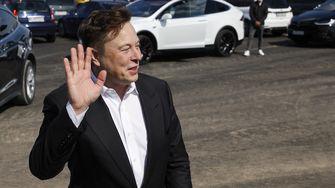 Elon Musk bezocht eind 2020 het terrein nabij Berlijn waar de Tesla Gigafactory gebouwd wordt