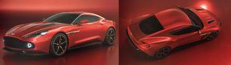 Aston Martin Vanquish Zagato rood
