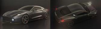 Aston Martin Vanquish Zagato zwart