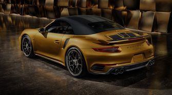 Porsche 911 Turbo s exclusive series back dak