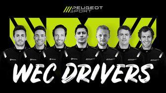 Coureurs voor Peugeot Sport Hypercar in WEC 2022
