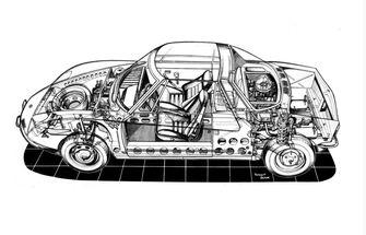 middenmotor concept Matra 550