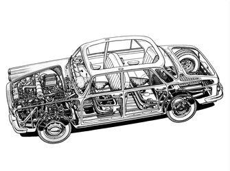Lancia Flavie doorkijk