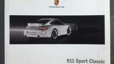 Porsche 911 Sport Classic brochure House of Petrolhead IMG_8491