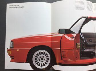 Autofolder autobrochure Audi QuattroIMG_9182