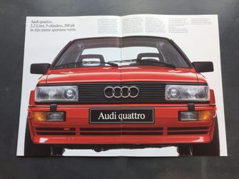 Autofolder autobrochure Audi QuattroIMG_9183