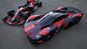 Aston Martin Valkyrie met Red Bull-kleuren