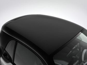 smart fortwo coupé mit einzigartiger Softtop-Optik