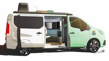 Renault, camper, trafic