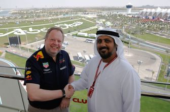 Andy Palmer Aston Martin Lagonda President and Al Tareq Al Ameri, Chief Executive Officer Yas Marina Circuit