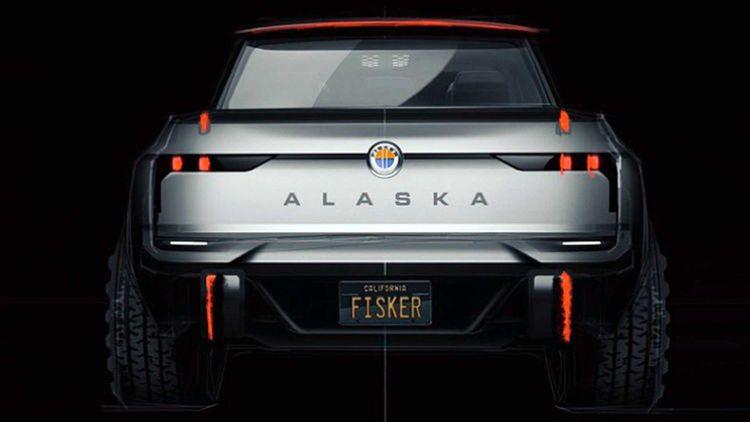 Fisker liet per ongeluk een foto zien van de Alaska pick-up.